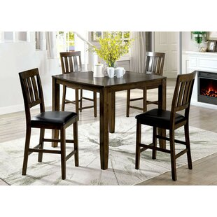 Healdton 5 Piece Counter Height Extendable Dining Set by Fleur De Lis Living