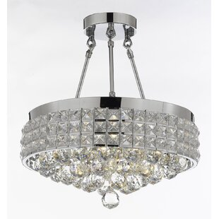 Laplant 4-Light Semi Flush Mount by Rosdorf Park