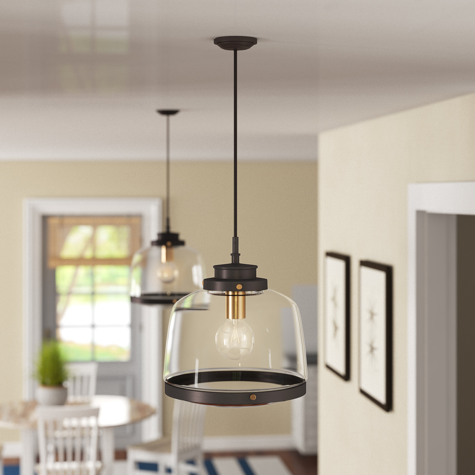 Light Single Schoolhouse Pendant