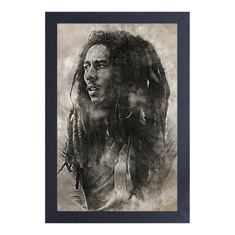 East Urban Home Bob Marley Conquering Lion Framed Graphic Art