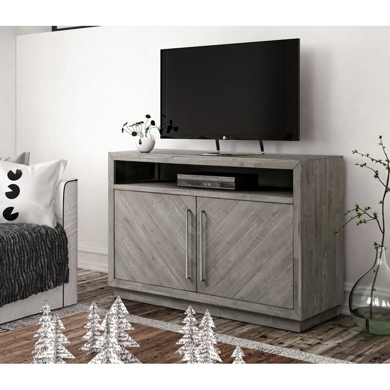 Artesian 54 Solid Acacia Wood Tv Stand For Tvs Up To 88 Reviews Joss Main