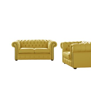 Belford 2 Piece Leather Sofa Set By Astoria Grand