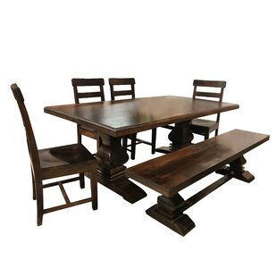 Royal 7 Piece Solid Wood Dining Set Longshore Tides
