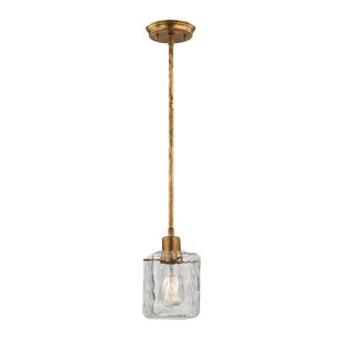 Buy clear Darion 1-Light Square/Rectangle Pendant By Mercury Row