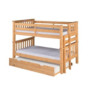 Lindy Mission Twin over Twin Bunk Bed with Trundle