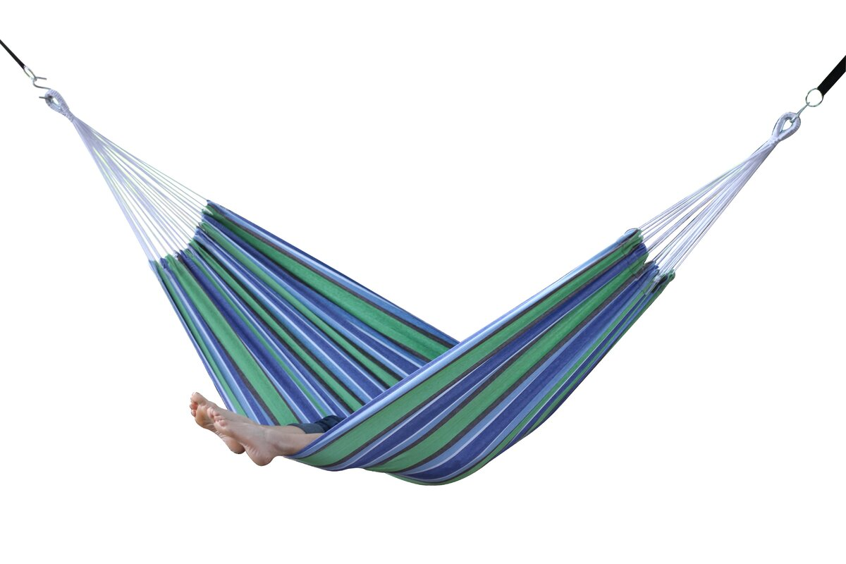 hanging full sunny durable cloth chairs striped macrame hammock comfy oak fabric vivere fringe construction stripes cotton patio blue woven with comfortable thread hardwood capacity spreader bar pillows of plain edging accessory hand tables pound brazilian size chair style