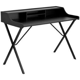 Offex Secretary Desk with Top Shelf