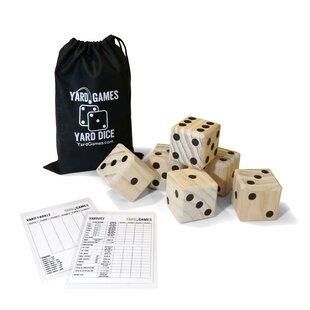 Giant Wooden Dice Rolling Game Set with Scorecards Indoor Outdoor Jenjo Games