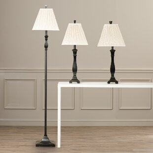 Darby Home Co Froste 3 Piece Table and Floor Lamp Set