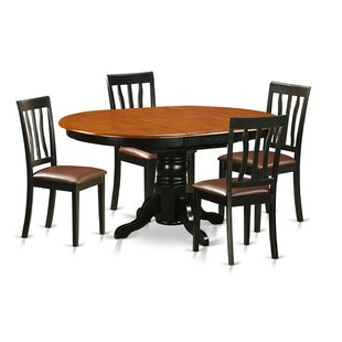 Paloma 5 Piece Dining Set by Alcott Hill