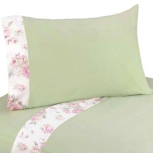 Sweet Jojo Designs Riley's Roses 3 Piece 100% Cotton Twin Sheet Set