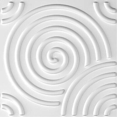 "Ripple 19.7"" L x 19.7"" W 3D Embossed/Paintable 24-Panel Wallpaper Panel e-Joy"