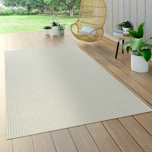 Terrance Flatweave White Rug By Brambly Cottage