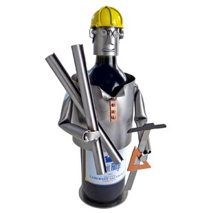 Wine Caddy Architect 1 Bottle Tabletop Wine Rack by H & K SCULPTURES