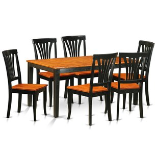 Pillar Traditional 7 Piece Dining Set August Grove