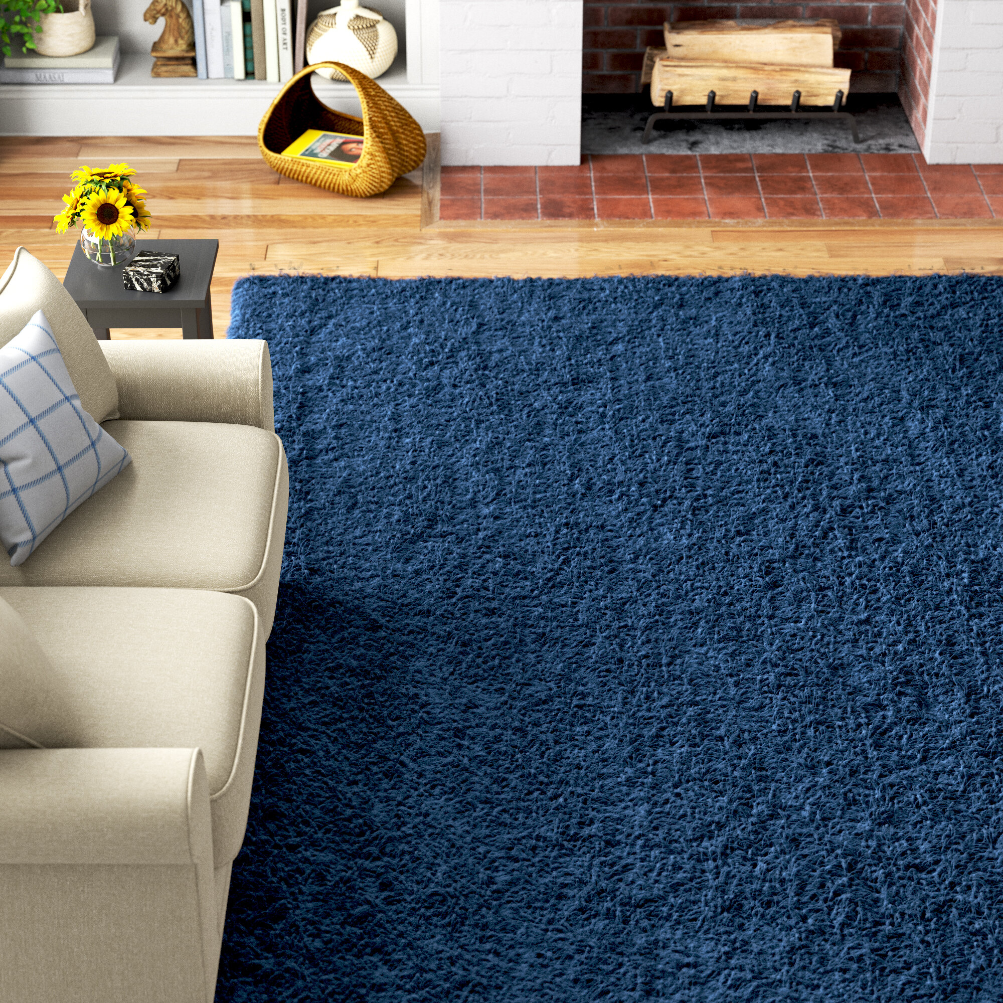 Andover Mills Marcy Sapphire Blue Area Rug Reviews Wayfair