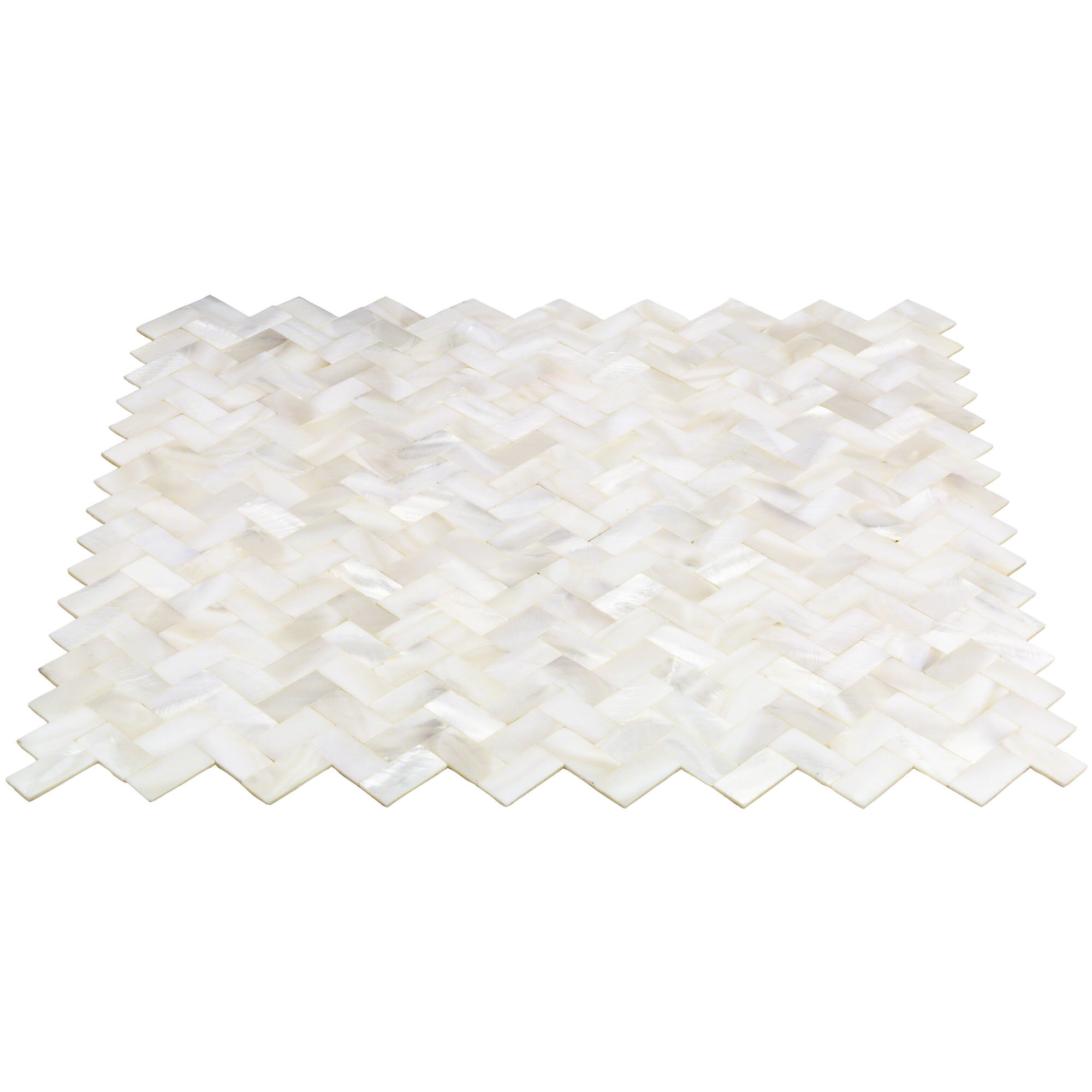 Ivy Hill Tile Lokahi Random Sized Glass Pearl Shell Mosaic Tile In Polished White Pearl Reviews Wayfair
