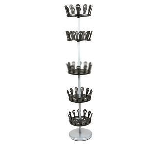 5 Tier Revolving 30 Pair Shoe Rack By Mind Reader