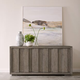 Worley Rustic Plank Front 3 Door Storage Credenza by Union Rustic
