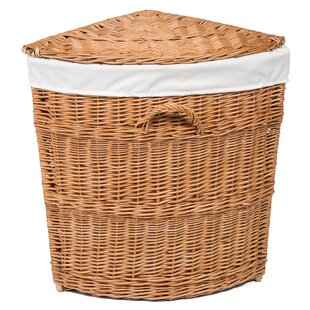 Wicker Lined Corner Laundry Basket By August Grove