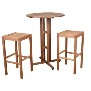 Boulder 3 Piece Bar Height Dining Set
