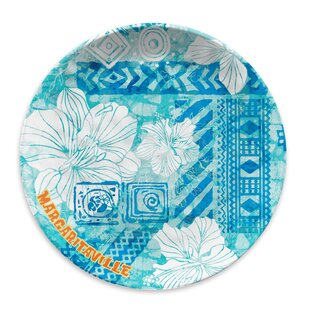 Margaritaville Melamine Dinner Plate (Set Of 6) by Margaritaville 2019 Sale