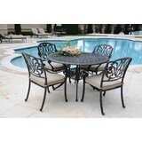 San Francisco 5 Piece Dining Set with Sunbrella Cushions