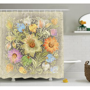 Aged Floral Bouquet Decor Single Shower Curtain by East Urban Home Great price
