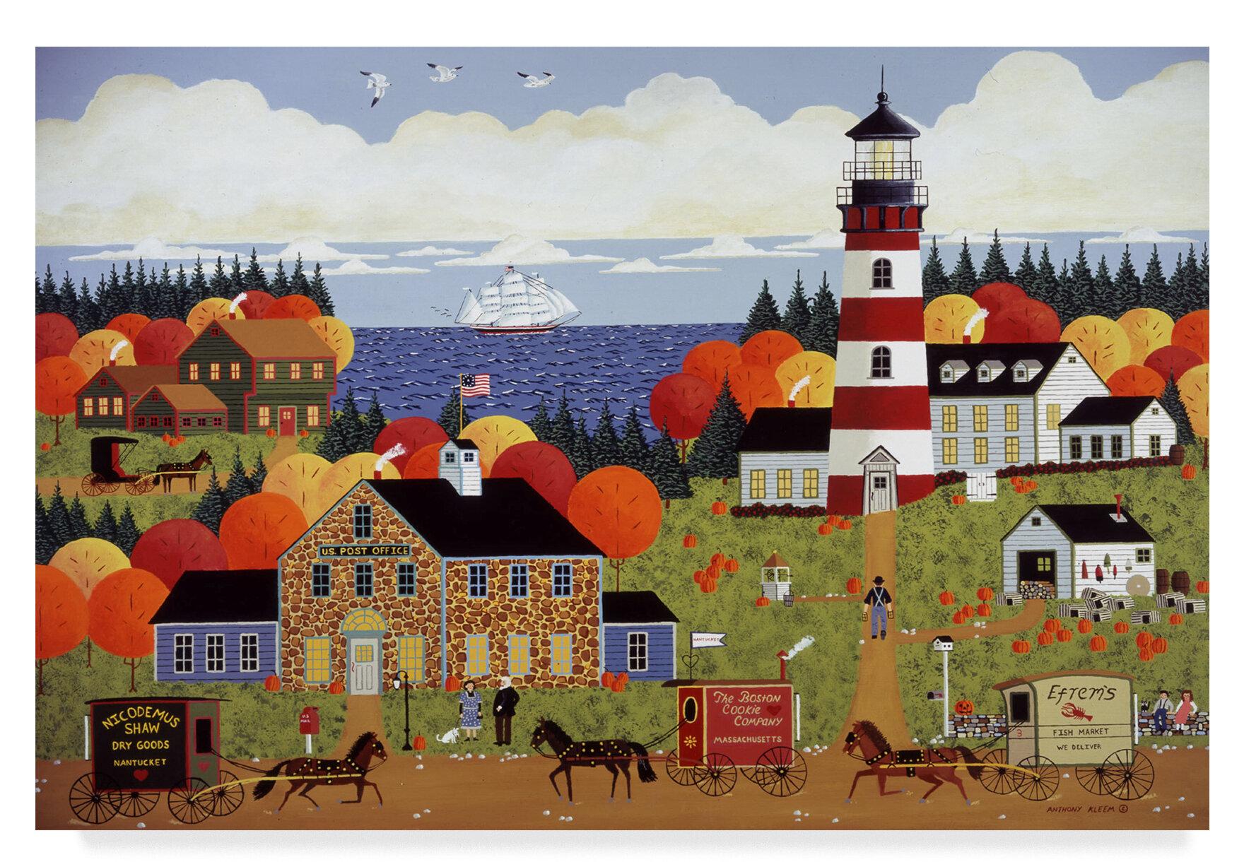 Trademark Art Nantucket Sentinel Acrylic Painting Print On Wrapped Canvas Wayfair