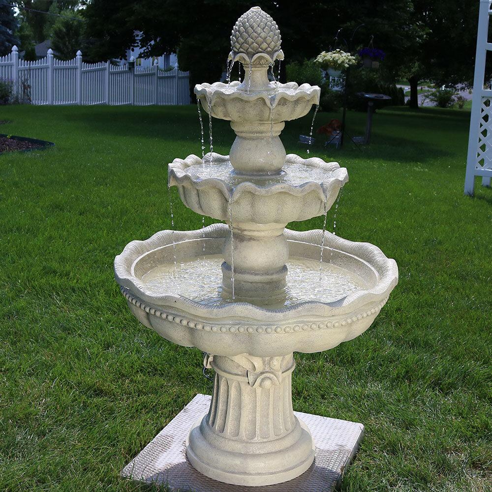 Duque Fiberglass 4 Garden Fountain