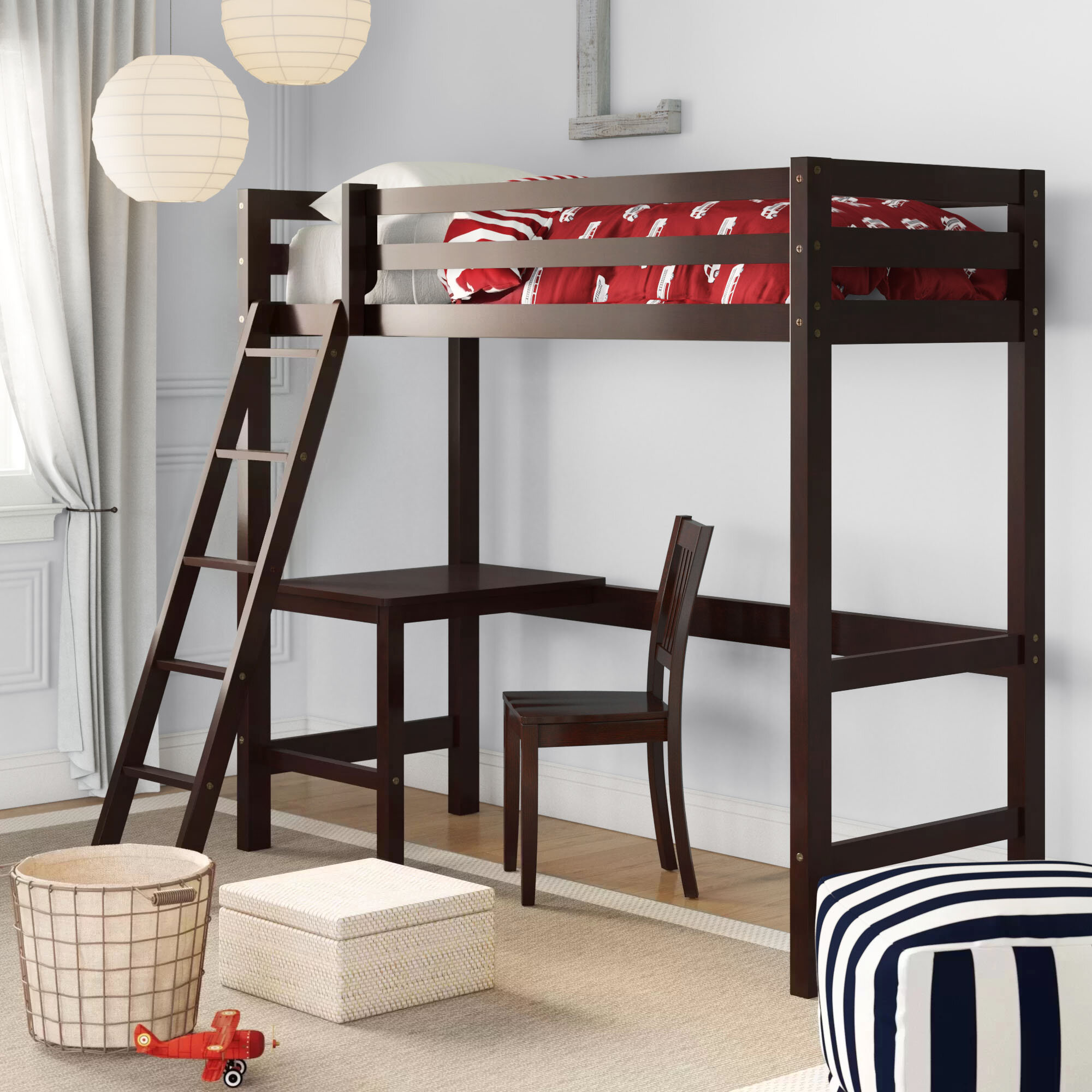 Birch Lane Heritage Andreana Twin Loft Bed With Chair Birch Lane
