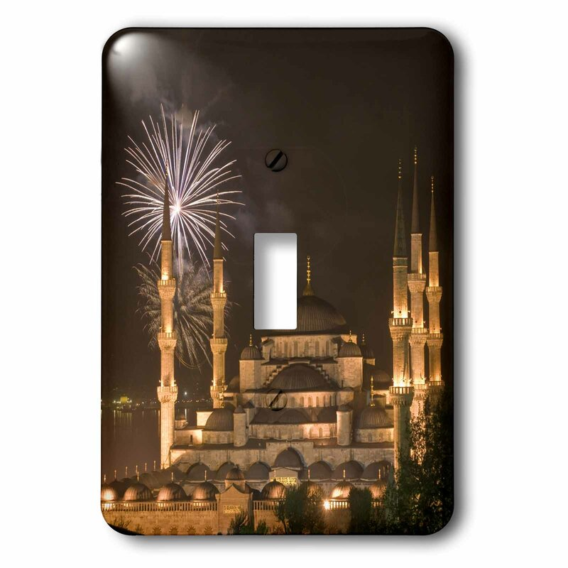 3drose Turkey Istanbul Mosque With Fireworks 1 Gang Toggle Light Switch Wall Plate Wayfair