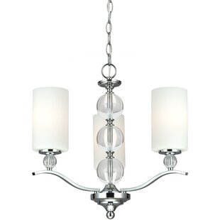 Astoria 3-Light Shaded Chandelier by House of Hampton