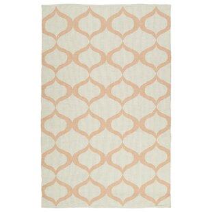 Best Price Dominic Cream/Pink Indoor/Outdoor Area Rug By Ebern Designs