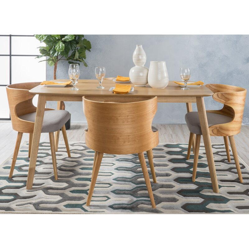 Ordinaire Camille 5 Piece Wood Mid Century Dining Set