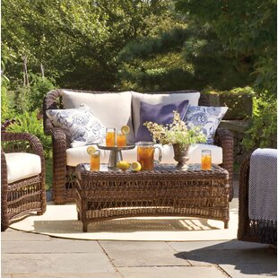 Elyse Patio Loveseat with Sunbrella Cushions by Bay Isle Home