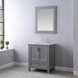Euramo 30 Single Bathroom Vanity Set with Mirror by Red Barrel Studio®