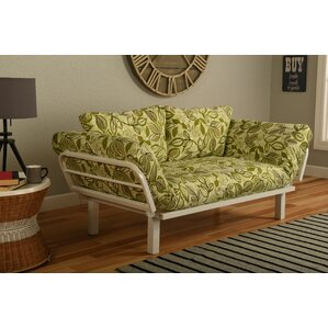 Everett Convertible Lounger in Lahania Luau Futon and Mattress by Ebern Designs