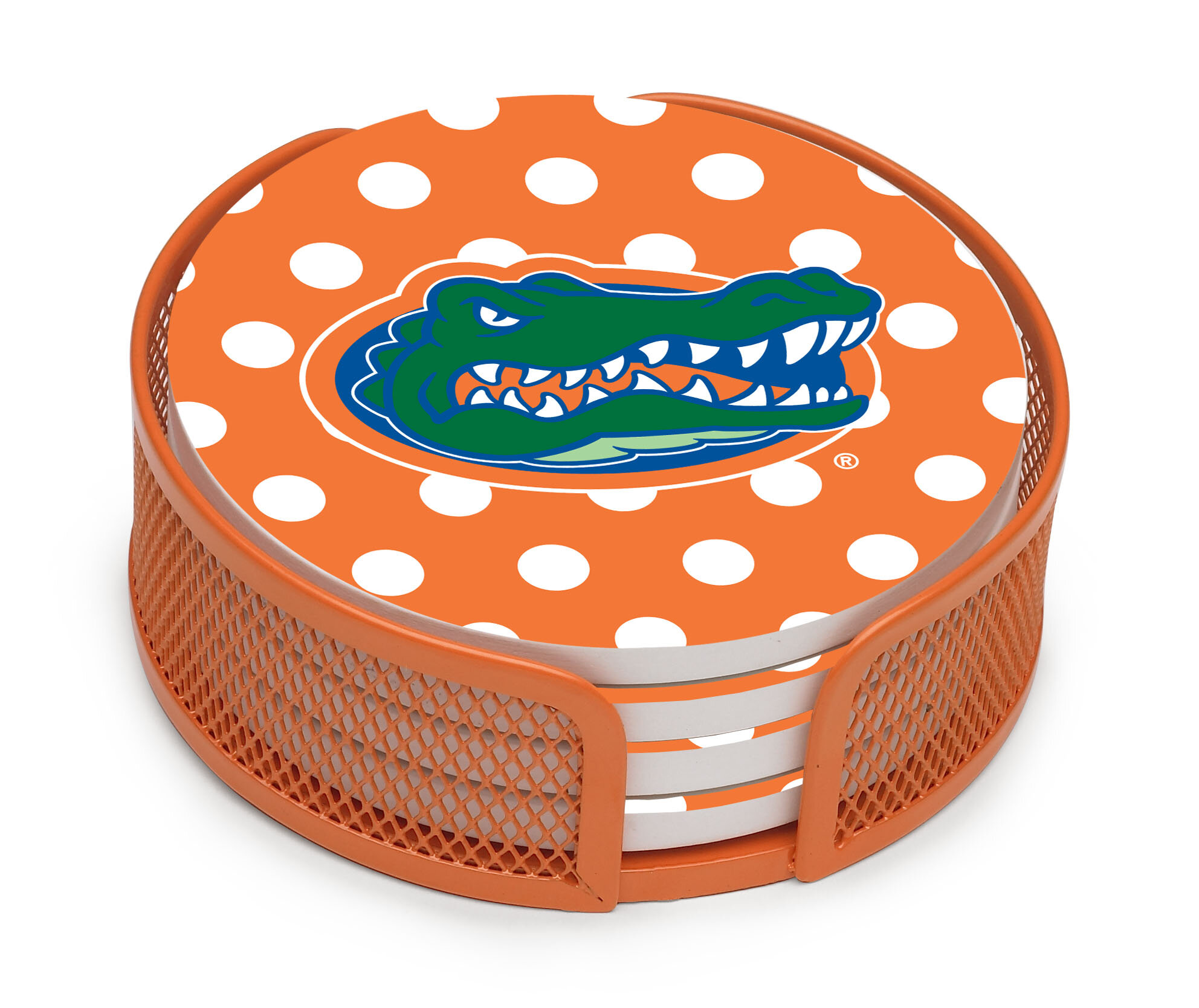 Thirstystone University Of Florida Dots Collegiate Gift Set 5 Piece Coaster Set With Holder Wayfair