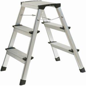 Atrox 2 ft Aluminium Step Ladder with 350 lbs Load Capacity