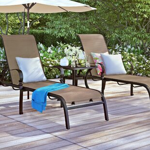 Curacao 3 Piece Chaise Lounge Set