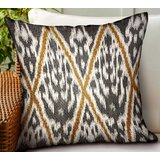 Branham Ikat Luxury Indoor/Outdoor Throw Pillow