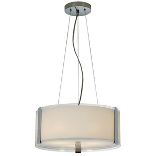 Ebern Designs Mcelfresh 3-Light Drum Pendant