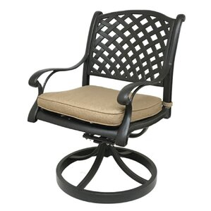 Beadle Swivel Rocking Chair With Cushions (Set Of 2)