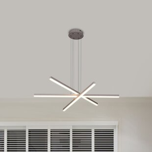 Orren Ellis Northgate 3-Light LED Geometric Chandelier