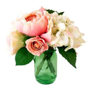 Silk flowers in acrylic water wayfair mixed garden flowers in acrylic water mason jar mightylinksfo