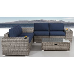 Longshore Tides Bustillos 8 Piece Sunbrella Sectional Set with Cushions