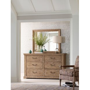 Monteverdi 6 Drawer Double Dresser with Mirror