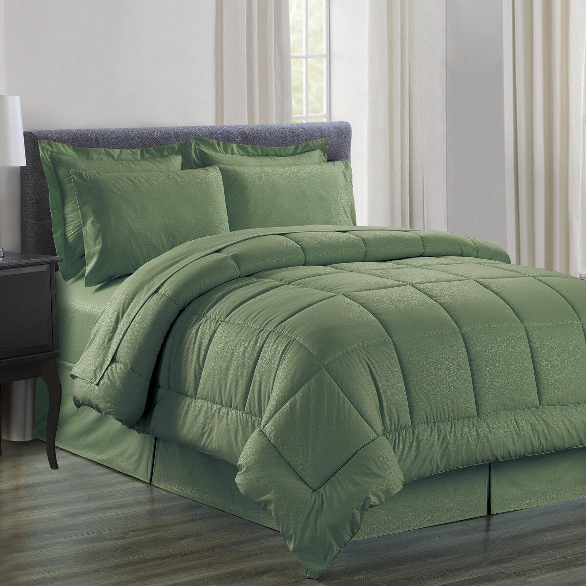 Red Barrel Studio Chad Embossed Vine Down Comforter Set Reviews Wayfair