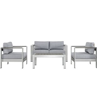 Coline 4 Piece Sofa Set With Cushions by Orren Ellis Best #1